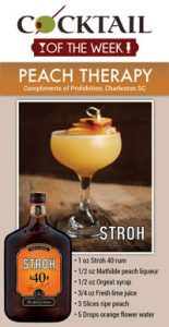 Niche Cocktail of the Week Peach Therapy
