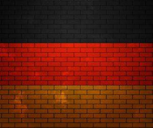 German Flag Brick Wall