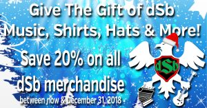 dsb christmas sale 2018 20% off all dSb Merchandise